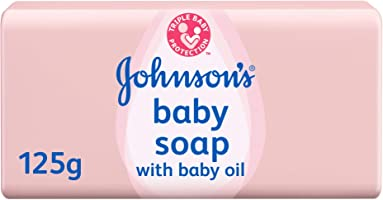 JOHNSON'S Baby, Baby Soap with Baby Oil, 125g