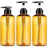 Bottiglie dispenser 3 pezzi per bagno, Segbeauty 500ml Bottiglie pompa riutilizzabili per sapone liquido per il corpo Shampoo
