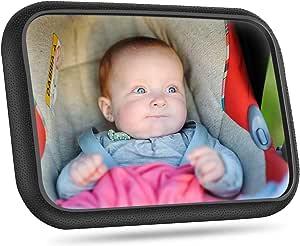 Rücksitzspiegel Für Babys Bruchsicherer Auto Rückspiegel Für Babyschale 360 Schwenkbar Autositz Spiegel Ohne Einzelteile Kompatibel Mit Meisten Auto Drehbar Doppelriemen Auto