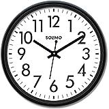 Amazon Brand - Solimo 12-inch Classic Plastic Wall Clock (Black)