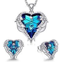 Set di Collana e Orecchini Gioielli da Cristalli Regalo di Donna con Confezione per Natale, Compleanno, Anniversario…