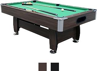 Billardtisch 7ft Snooker in 2 Farben - Jalano Pool Billiard Set inkl. Zubehör 214 x 122 x 82 cm (LxBxH) - 7 Fuß Tischbillard mit Kugelrücklauf