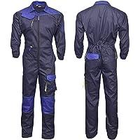 NORMAN Navy Blue Men's Work Wear Overalls Boiler Suit Coveralls Mechanics Boilersuit