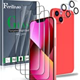 Ferilinso Verre Trempé Conçu pour iPhone 13, 3 Pièces HD Film Vitre Protection écran avec 2 Pièces Caméra Arrière Protecteur,