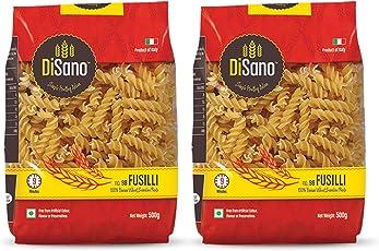 Disano Fusilli Durum Wheat Pasta, Pack of 2 (2 x 500 GMS)