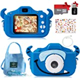 Cámara Fotos Digital para Niños, Cámara Digital Infantil Selfie con Tarjeta TF 32GB, Pantalla HD 1080P 2'', Lector de Tarjeta