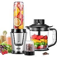 DEIK Mixer Smoothie Maker, 3 in 1 Mini Multifunktion Standmixer für Shakes, Smoothies, Obst, Gemüse mit Fleisch…