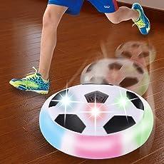 ZIGLY Kids LED Light Hover Ball Indoor Football Air Power Soccer, (Multicolour)