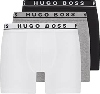 BOSS Mens Boxer Brief 3P CO/EL Three-Pack of Stretch-Cotton Boxer Briefs