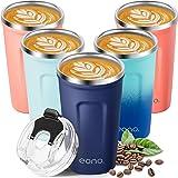 Amazon Brand - Eono Termo Cafe para Llevar 380 ml, Vaso Termico Cafe para Bebidas Frías y Calientes, Reutilizable Taza Termo