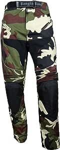 Ledershop-online Bangla Motorradhose Tourenhose Textil Cordura Camouflage Grün S-7 XL