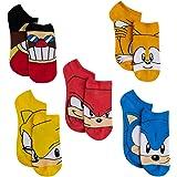 Sonic The Hedgehog 5 Pk Kids No Show Socks