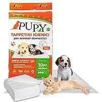 PuPy 20 Classic Tappetini Igienici Assorbenti per Cani, 60x90, con Adesivi, Polimeri Ultra-assorbenti, Addestramento…
