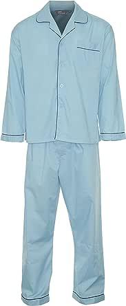Champion Men's Oxford Plain Design Polycotton Long Pyjama Set