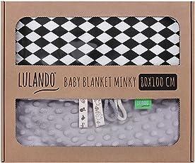 LULANDO Babydecke Kuscheldecke Krabbeldecke aus 100% Baumwolle