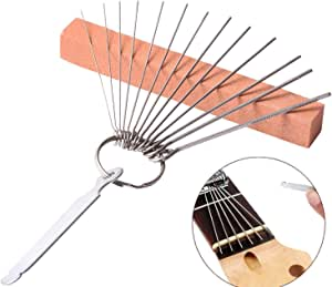 14 Feilen für Gitarren Sattel Einschleifen blau Praktisch Werkzeug Set