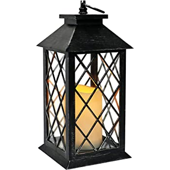 White 2 Indoor//Outdoor Battery Operated LED Light Camping and Garden Lantern