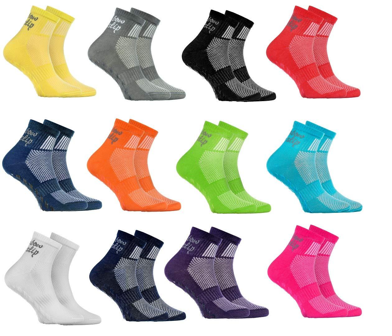 Rainbow Socks Hombre Mujer Deporte Calcetines Antideslizantes ABS de Algod/ón
