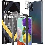 EGV Compatibile con Samsung Galaxy A51 Protector de Pantalla,2 Pack Cristal Templado e 2 Pack Protector de Lente de Cámara