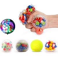 Fansteck 4 Pack Balle Anti-Stress différente, Squishy Ball / Balle de soulagement / Jouet à soulagement du Stress