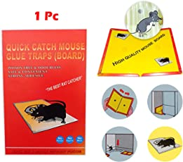 Catch Mouse/Rat Glue Traps, 1pc Mouse Insect Rodent Lizard Trap Rat Catcher Adhesive Sticky Glue Pad for rats/lizards/ cockroaches/ ants/ mouse/ rodents (Pack of 1) | mice trap glue | mouse repellent for home | mouse trap for big rats | mouse kill glue| mouse kill trap | Mouse/ Rat Bond Traps|