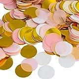 Kesote Multicolor Confeti de Papel de Forma Redonda 10000 Piezas de Decoración Confeti de 4 Colores para Boda, Cumpleaños, Fi