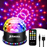 USB Disco Lights SOLMORE Party Stage Lights RGB Disco Ball Licht Knipperende Effecten Usb-kabel 7 Kleuren 6 Lichtmodi Geluid