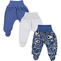 TupTam Baby Boys Trousers with Feet - Pack of 3