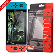 Orzly Glass Screenprotectors compatibel met Nintendo Switch - Premium Screenprotector van gehard glas TWIN PACK [2x Screenpr