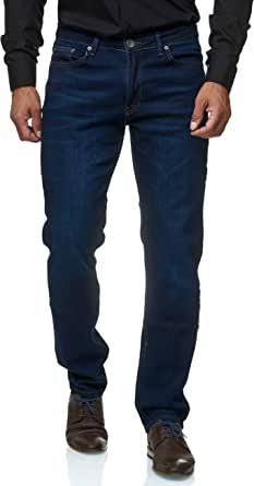 JEEL Men's Jeans - Regular Fit Straight Cut - Stretch - Jeans Trousers Basic Washed