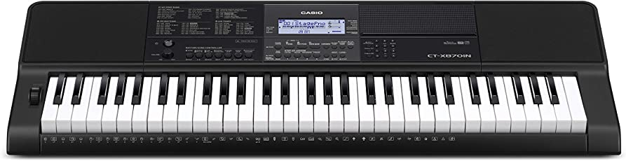 Casio CT-X870IN 61-Key Portable Keyboard (Black)