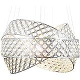 Moderno lusso vetro cristallo lampadario plafoniera di dimensioni Ø50cm soffitto soggiorno luce incl. 5xG9 led lampadini Lewi