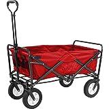Meister Chariot de transport pliable, rouge, 6816910