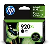 HP 920XL   Ink Cartridge   Black   Works with HP OfficeJet 6000, 6500, 7000, 7500   CD975AN