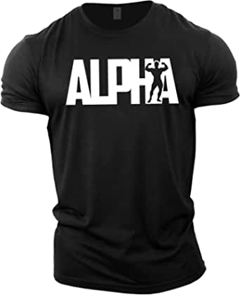 GYMTIER Mens Bodybuilding T-Shirt - Alpha - Gym Training Top