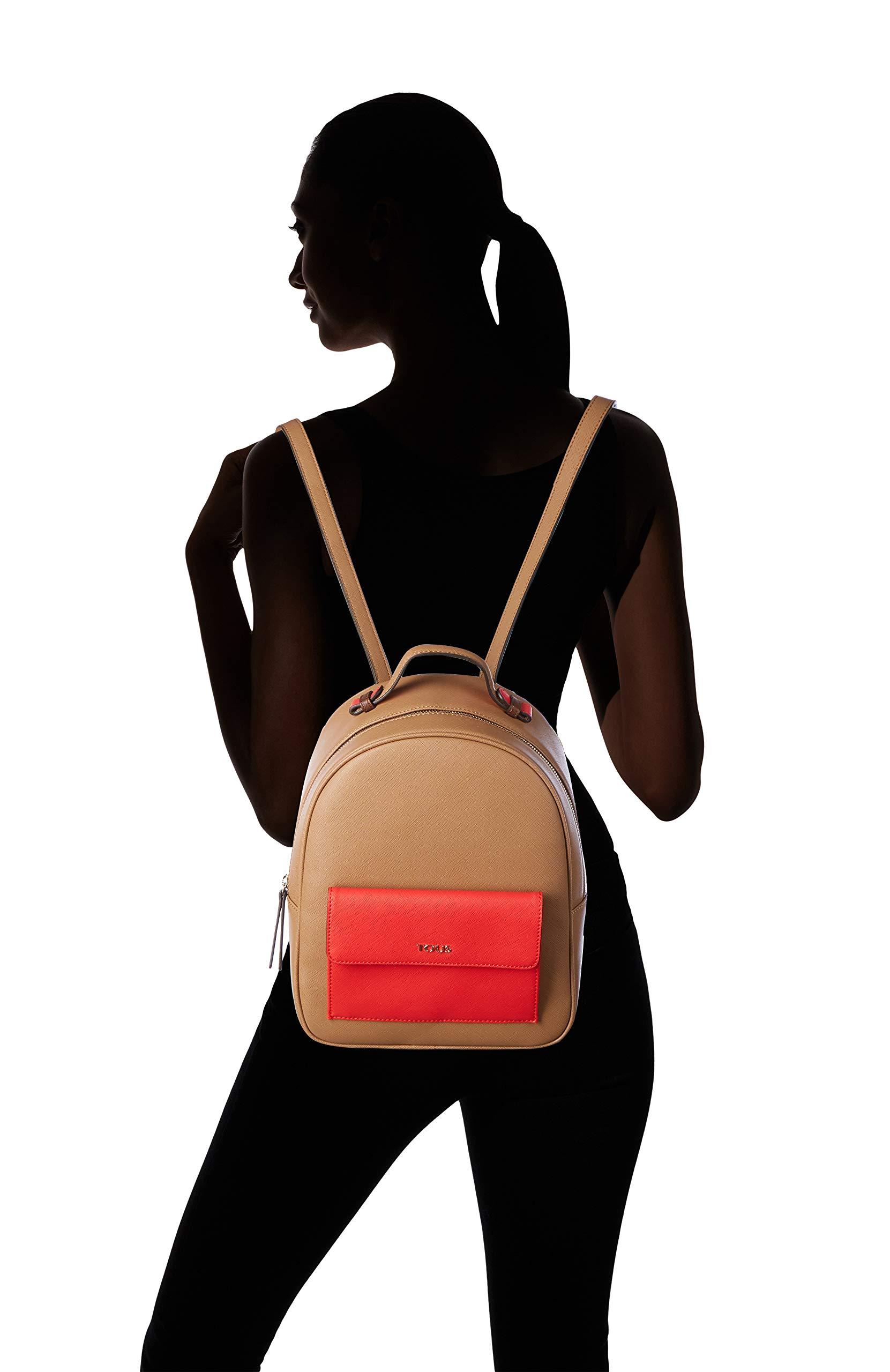 711ib7aKsuL - Tous Mochila Essence MARRÓN-Rojo, Bolso Mujer, 25x31x12 cm (W x H x L)