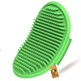 Foodie Puppies Pet Shampoo Washing Soothing Massage Rubber Bristles Hand Brush Comb for Dogs & Cats - 1 Piece (Colour May Var