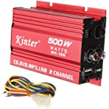 ePathChina 2 x 18W 2-Channel Mini Hi-Fi Car Stereo Audio Amplifier, DC9-15V AMP Electrical Portable DIY Amplifier…