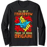 Grullas de papel de origami japonesas Camiseta: Amazon.es ...