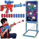 Otes Giochi di tiro giocattolo per, 2 Pezzi Pistola Giocattolo con 1 Bersaglio Standing, 30 palline di schiuma, Gioco da all'