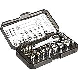 Amazon Basics Ratcheting Wrench and Bits Set, 28-Piece
