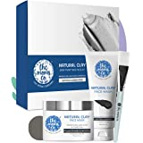 The Moms Co. Natural Clay Deep Purifying Face Kit with Clay Face Mask (100 ml) and Clay Face Wash (100 ml) with Moroccan Lava