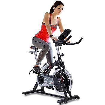 Sportstech SX200 Bicicleta estática Profesional; Control de App para Smartphone, Volante de inercia 22kg, pulsometro - transmisión por Correa, silencioso - Peso máximo 125kg