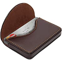 NISUN PU Leather Pocket Sized Credit Card Holder Name Card Case Wallet with Magnetic Shut for Men & Women Brown (100 X…