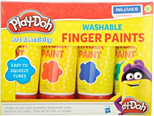 Play Doh Washable Finger Paint In Tubes Multi Color