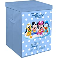 Kuber Industries Disney Kids Team Mickey Print Non Woven Fabric Foldable Laundry Basket, Toy Storage Basket, Cloth…