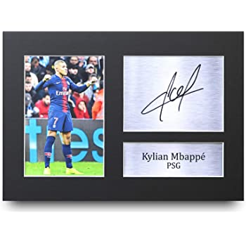 HWC Trading Kylian Mbappe Gift Signed A4 Printed Autograph Paris  Saint-Germain PSG Gifts Print 6dd05d74a