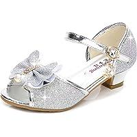 YONIER Scarpe con Tacco Ragazza Ballerine Bambina Cerimonia Festa Lustrino Nozze Scarpe da Principessa Eleganti Piatto…