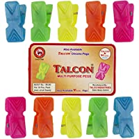 Talcon Plastic Clips for Clothes Plastic Pegs for Hanging Drying Clothing on Strings Multipurpose Heavy-Duty (40)