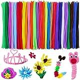 Tukcherry Craft Pompons Multicolores Rondes Fils Chenille Enfant Artisanat Fabrication Loisirs Fournitures DIY Creative Décor